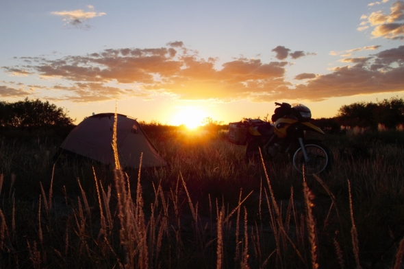 Wild Camping between San Luis and San Rafael in Argentina